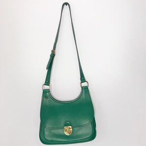 Tory Burch James Saddlebag Evergreen